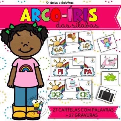 Arco-Íris das Sílabas | Jogo Pedagógico | atividades de alfabetização para educação infantil