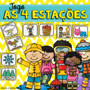 as quatro estações | Jogo pedagógico | atividade de alfabetização