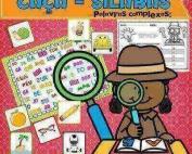 Caça-Sílabas Palavras Complexas | 25 fichas, 1 prancha e 1 folha de registro Educação Infantil