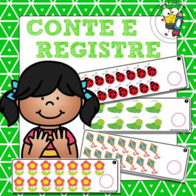 Conte e Registre | Jogo Pedagógico | Alfabetização Matemática