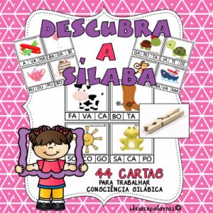 descubra a silaba | Atividade de Alfabetização
