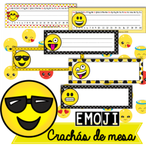 Crachás de Mesa Emoji | Educação Infantil