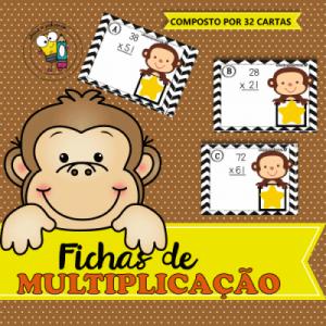 Fichas de Multiplicação   Atividades de Alfabetização Matemática