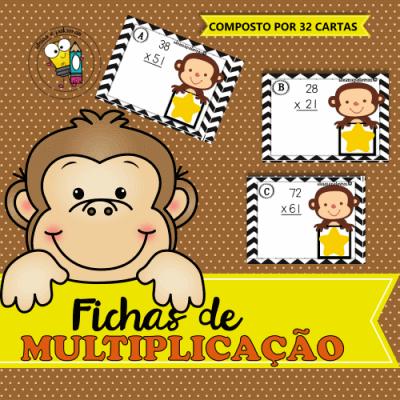 Fichas de Multiplicação | Atividades de Alfabetização Matemática