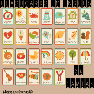 Flash cards em Inglês | Alfabetização na Educação Infantil