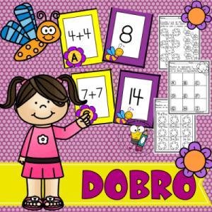 O Dobro | Jogo Pedagógico de Matemática | Atividades de Alfabetização
