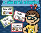 O Que está escrito? | Jogo Pedagógico | Atividade de alfabetização