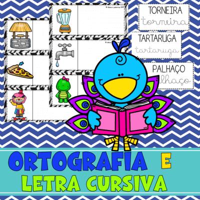 ortografia e letra cursiva | Jogos Pedagógico | Ensino fundamental