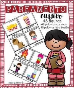 Pareamento Cursivo | Jogo Pedagógico | Atividades de Alfabetização e Letramento