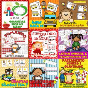 Pacotão 51 Fichas de Leitura + 12 Jogos Pedagógico Matemática e Português