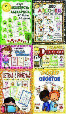 Pacote 4 Português | 6 Atividades de Alfabetização e Letramento