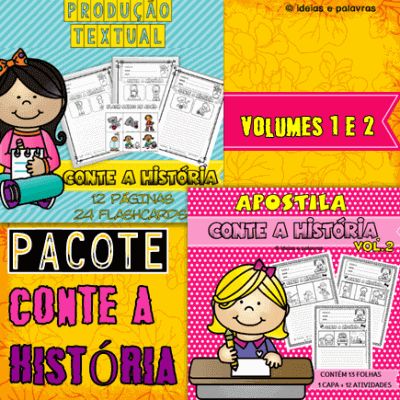 Pacote Conte a História Vol.1 e 2 | Alfabetização e Letramento