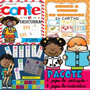Pacotão com 12 Jogos para Alfabetização Matemática e Letramento