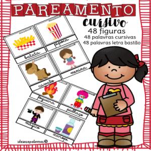 Pareamento Cursivo   Jogo Pedagógico   Atividades de Alfabetização e Letramento