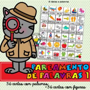pareamento de palavras 1   atividade de alfabetização   www.ideiasepalavras.com.br