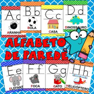 Poster Alfabeto de Parede | Educação Infantil | ideiasepalavras.com.br