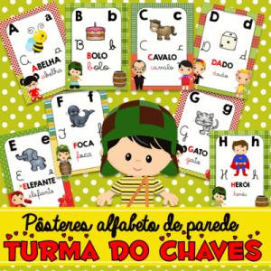 Alfabeto de Parede Tema Turma do Chaves