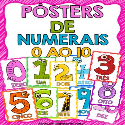 posteres 1 ao 10 | atividade de alfabetização