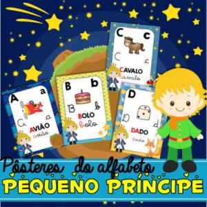 Posteres Alfabeto Pequeno Príncipe