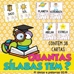 Quantas Sílabas Tem? | Jogo Pedagógico | Atividades de Alfabetização e Letramento