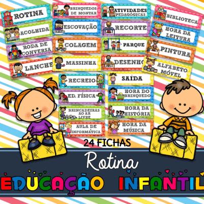 Rotina para Educação Infantil 24 Fichas