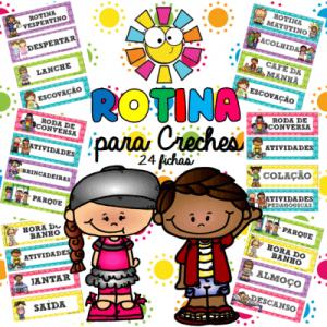 Rotina para Creches 24 Fichas   Educação Infantil