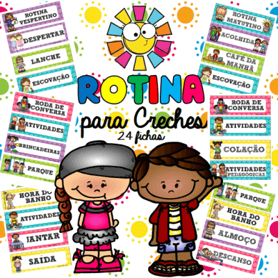 Rotina para Creches 24 Fichas | Educação Infantil
