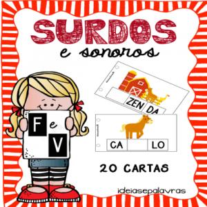 Surdos e Sonoros F e V   Jogo Pedagógico   Atividade de Alfabetização
