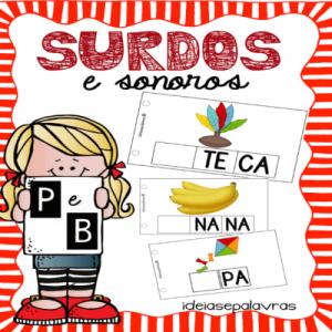 Surdos e Sonoros P/B   Jogo Pedagógico   Atividade de Alfabetização e Letramento