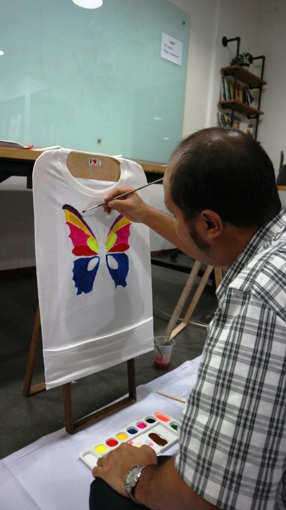 workshop painting on t shirt ydba
