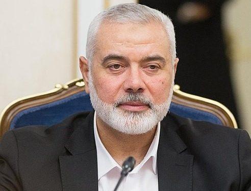 Hamas-leder Ismail Haniyeh (Wikimedia).