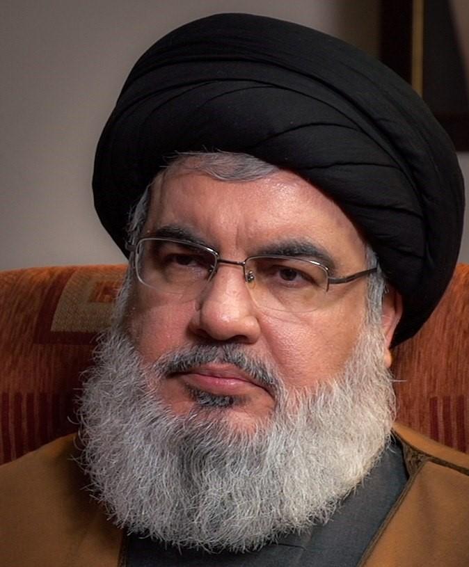 Hassan Nazrallah, generalsekretær i terrorgruppen Hizbollah.