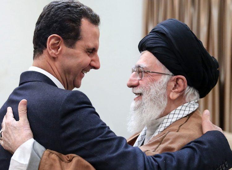 Bashar al Assad i møte med Irans leder Ali Khamenei.