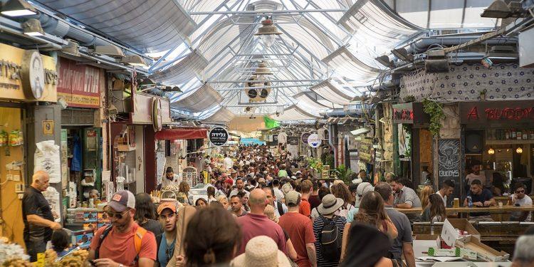 Mahane Yehuda markedet i Jerusalem (Wikimedia).