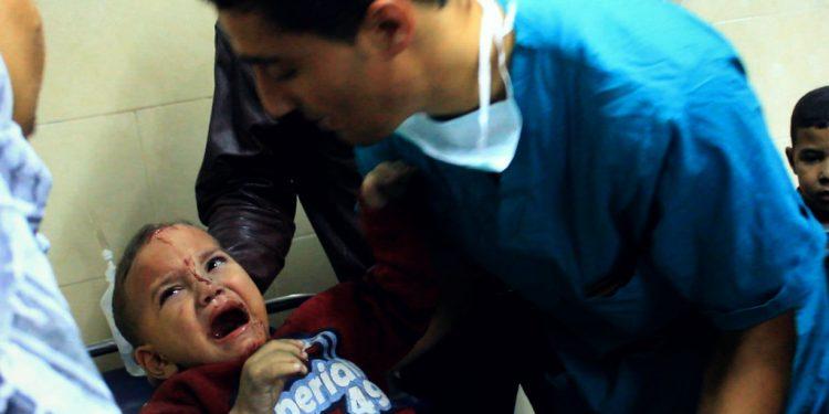 Foto fra Shifa Hospital i Gaza city (Giggi Ibrahim, Flickr).