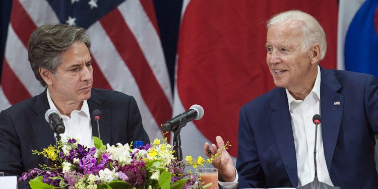 USAs uteriksminister Anthony Blinken med president Joe Biden (foto: U.S. Indo-Pacific Command, i Flickr).