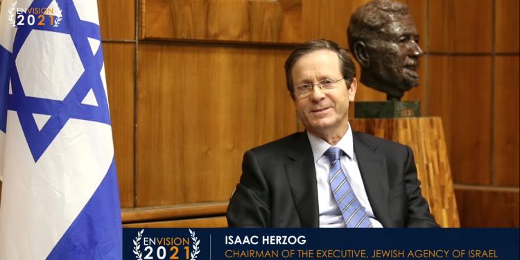 Isaac Herzog takket kristne venner under IKAJs Envision-konferanse i 2021.