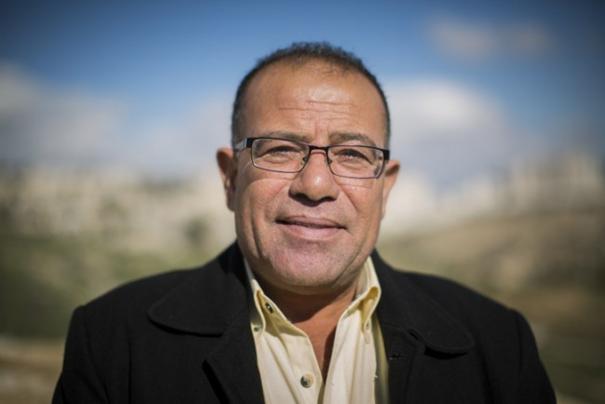Den palestinske menneskerettighetsaktivisten Bassem Eid. Foto fra hans nettside bassemeid.com.