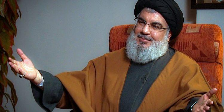 Hizbollahs øverste leder Sayyid Hassan Nasrallah. Foto fra Wikimedia Commons/http://farsi.khamenei.ir/photo-album?id=43520#i.