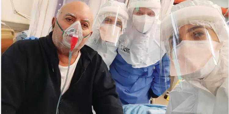 En pasient blir behandlet med Nadir Arbers EXO-CD24 COVID-19-medisin.