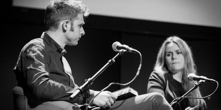 Snorre Valen, Linda Noor i debatt i 2015. Foto: Tore Sætre/Wikimedia Commons - http://www.setre.net/