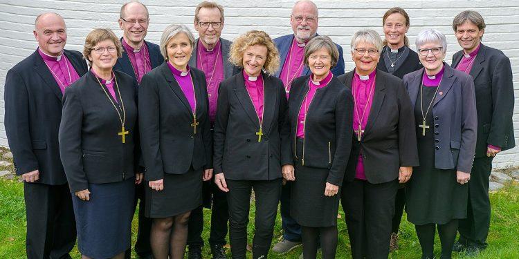 Biskopene i Den norske kirke 2018. Foto: https://www.flickr.com/people/137692183@N05, i Wikimedia Commons.
