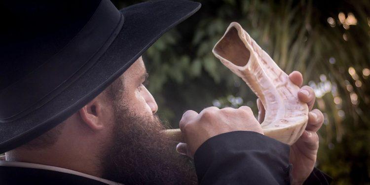 Rosh Hashana (jødisk nyttår) - Sjofarenes høytid. Lenke til Mino Zigs foto: https://commons.wikimedia.org/wiki/File:Shofar_in_Rosh_Hashanah.jpg.