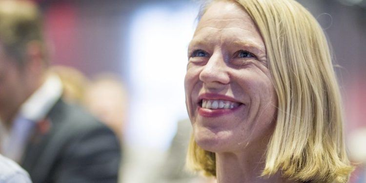 Anniken Huitfeldt blir trolig Norges nye utenriksminister.  Foto: Foto: Sandra Skillingsås, Arbeiderpartiet - https://www.flickr.com/photos/arbeiderpartiet/17162841596.