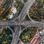 Autobahnkreuz von Oben