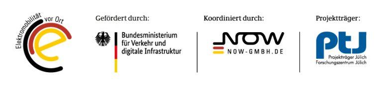 Logokombination Elektromobilität vor Ort
