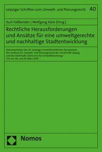 Titelblatt des Buches Rechtliche Herausforderungen und Ansätze für eine umweltgerechte und nachhaltige Stadtentwicklung
