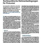 Cover Rechtspolitische Rahmenbedingungen für Prosumer