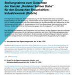 """Cover Stellungnahme zum Gutachten der Kanzlei """"Redeker Sellner Dahs"""" für den Deutschen BraunkohlenIndustrieverein (Debriv)"""