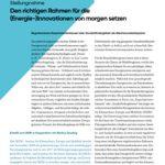 Cover Den richtigen Rahmen für die (Energie-)Innovationen von morgen setzen